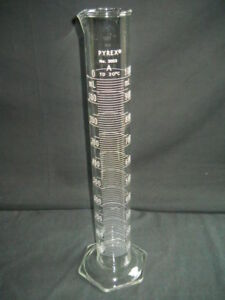 Corning Pyrex Class A Glass 1000ml 1l Dual Scale Td Graduated Cylinder 3023