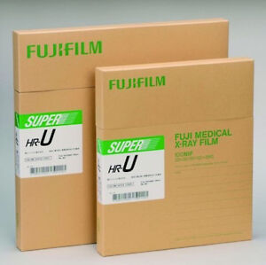 Fuji Green Hr u X ray Film 14x36 Trifold 25 Sheets box
