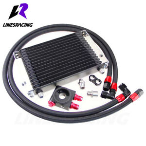 Linesracing Universal High Performance Trust 15 Row Thermostatic Oil Cooler Kit