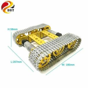 Doit All Metal Tracked Robot Smart Car Platform Aluminum Alloy Chassis With Dual