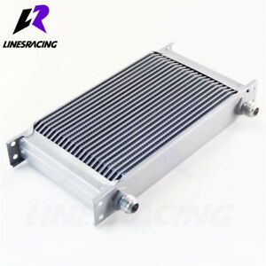 Linesracing Universal 22 Row An10 Engine Transmission Oil Cooler Silver