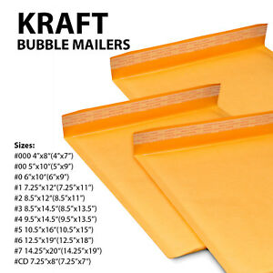 Kraft Bubble Mailers Shipping Envelopes Self Sealing Padded Envelope Yellow