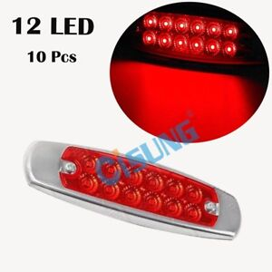 Red 10x 6 15 led Marker Clearance Light 12led Pigtail Connector Trailer Lights