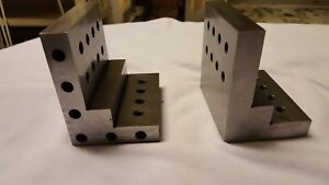 Lot Of 2 Machinist Angle Plates 3 4 X 3 X 4 X 4 Used