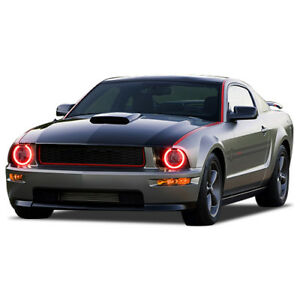 Rgb Multi color Led Halo Ring Headlight Kit For Ford Mustang 05 09
