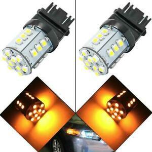 3156 3157 24 smd Amber Led Bulbs For Front Turn Signal Light 4057 3457 3357