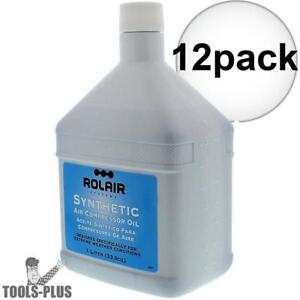Rolair Oilsyn34 1l Synthetic Compressor Oil 12x New