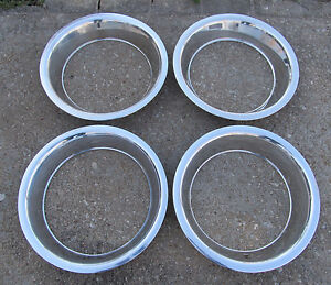 Nos 1968 1982 Corvette Rally Wheel Trim Ring Set Of 4 Gm 15 X 8