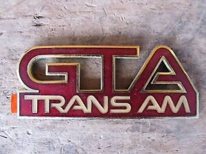 Nos Firebird Gta Trans Am Front Fender Emblem Original Gm Red 1987