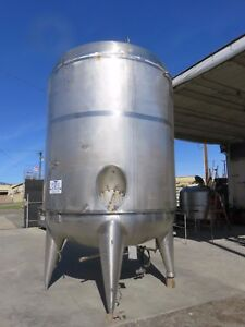 3500 Gallon 304 Stainless Steel Jacketed Mixing Tank