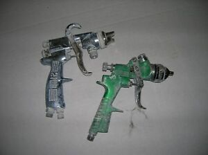 Graco Hvlp And Binks 2100 Spray Paint Guns Lot Of 2