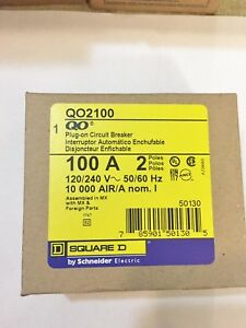 Lot Of 10 New In Box Square D Qo2100 100a 2p Plug on Circuit Breaker Best Price