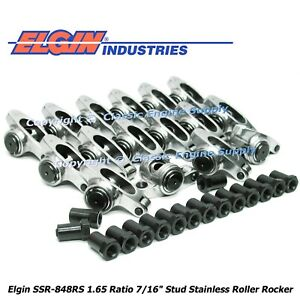 Stainless Steel Roller Rocker Arms 1 65 Ratio Fits Pontiac 350 400 428 455