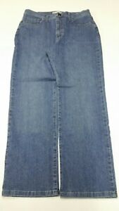 Lee Classic Fit Women's Jeans Straight Leg Size 12 Petite Medium Wash