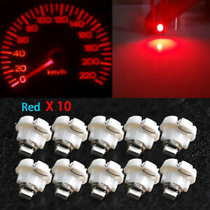 10x Red T4 T4 2 Neo Wedge 1 Smd Led Cluster Instrument Dash Climate Bulbs Lights