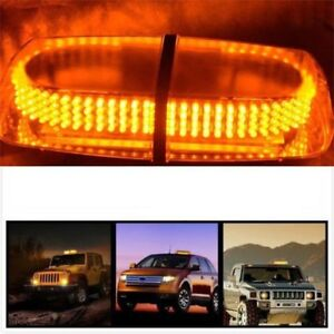Amber 240 Led Light Mini Bar Roof Top Emergency Hazard Warning Flash Strobe Ek