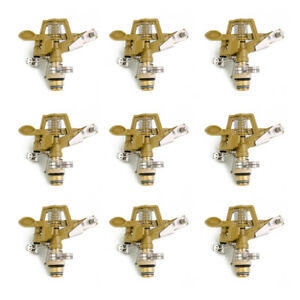 Magideal Metal Impact Drive Sprinkler Watering Irrigation Sprayer Head 9pcs