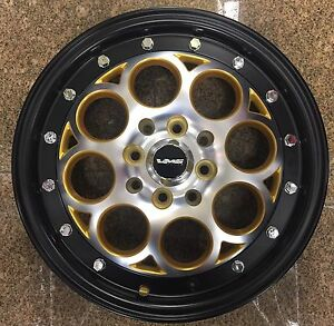 2x 15x3 5 Skinnies Drag Racing Wheels 4x100 4x114 3 Revolver Rims Gold Black