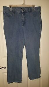 Lee Classic Fit Straight Leg Size 14 Petite Denim Jeans