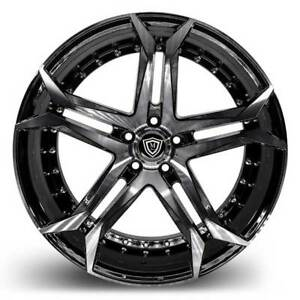 20 Marquee 3284 Wheels Black Machined Rims 5x120 Fit Chevy Camaro Ss