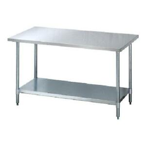 Turbo Air 24 X 48 Stainless Steel Work Table Commercial Kitchen Prep Tsw 2448e