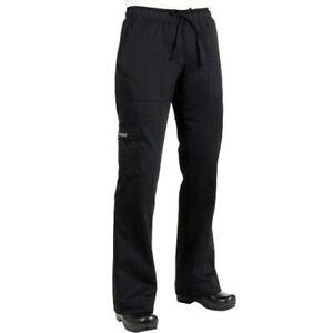 Chef Works Cpwo blk 3xl Women s Black Cargo Chef Pants 3xl