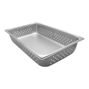 Vollrath 30043 Super Pan V Full Size 4 In Deep Perforated Steam Table Pan