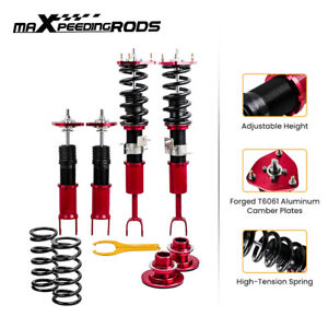 For Nissan Fairlady 350z Z33 Height Adj Coilovers Kits Racing Shocks Red