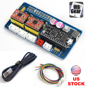2 Axis Stepper Motor Driver Controller Board For Diy Laser Engraver Usb Cable