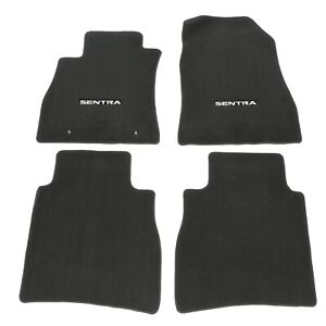 2013 2015 Nissan Sentra Black Carpeted Floor Mats Front Rear Set Of 4 Oem New