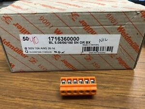 Weidmuller Terminal Block Plug 1716360000 6 Position Sold In Lot Of 40