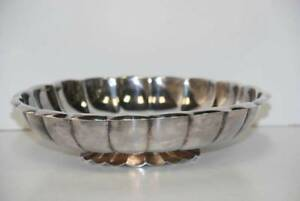 Vintage Reed Barton Silverplate Scalloped Bowl 179 Centerpiece Candy Dish 9