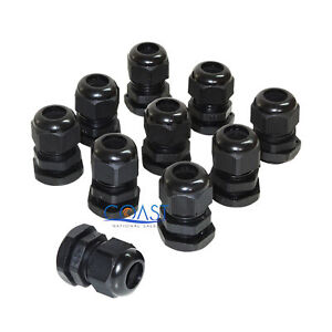 10x Durable Waterproof Uv Resistant Black Nylon Connector Grommet 16 21mm Dia