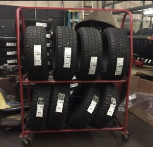 Used Awesome Mts 52129 Portable Heavy Duty Rolling Tire Rack Holds Up 16 Tires