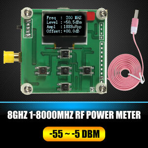 8ghz Rf Power Meter 1 8000mhz Oled 55 5 Dbm Sofware Rf Attenuation Value