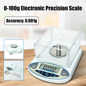100 X 0 001g 1mg Electronic Digital Lab Scale Precision Analytical Balance Set