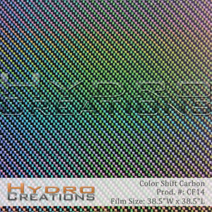 Hydrographic Film Hydro Dip Water Transfer Film Color Shift Carbon 38 5 X 38 5