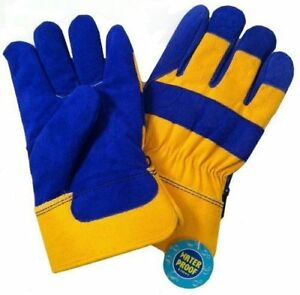 B a g g Blue And Yellow 6 Pack Waterproof Insulated Winter Work Gloves L