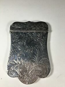 Vintage Sterling Silver Card Holder By Robert Thornton
