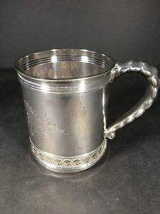 Sterling Silver Gorham Child S Christening Mug 1893