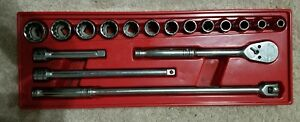 Snap On Tools 17 Piece 1 2 Inch Drive Ratchet And Socket Set