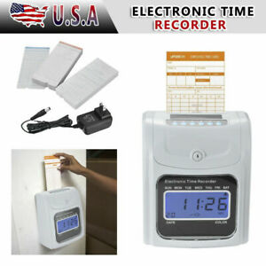 Lcd Attendance Time Clock W 50 Monthly Thermal Cards Employee Recorder K 7 New