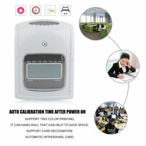Employee Attendance Punch Time Clock Payroll Recorder Lcd W Free Card Ribbon Vc