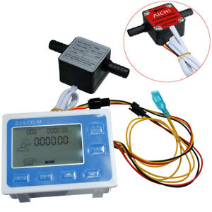 3 8 Flow Control Lcd Display Oil Fuel Gasoline Milk Water Flow Gear Sensor