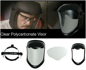 Face Shield Bionic Mask Clear Polycarbonate Visor Safety Protector Chin Guard