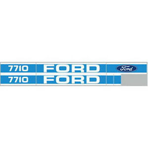 High Quality Blue 7710 Ford Tractor Hood Decal Kit