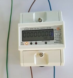 120 480v Electrical Kwh Meter Up To 100 Amps Internal Cts Din Rail Type