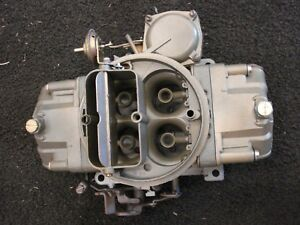 Holley Carburetor 4555 3972121 Date 022 Rebuilt Fuel Intake Bbc Sbc Chevy