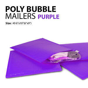 Poly Bubble Mailer 0 6 x10 6 x9 Padded Mailing Bag Envelopes Purple