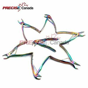 Up Grade New Rainbow Pedo Extracting Forceps 7 Pcs Kelin Set